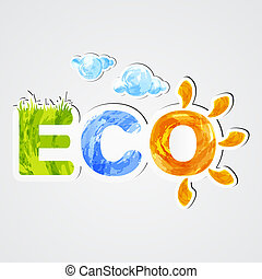 Eco - Environmental icon eco. Stickers. EPS10