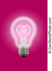 Heart line glow inner electric lamp.