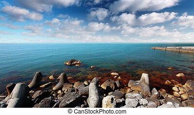 sea-piece - day, sky, sea, wave, beach, cloud, sunny, ocean...
