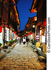 Chinese ancient town - Night scenes of the famous Chinese...