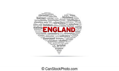 I Love England - Spinning I Love England Heart