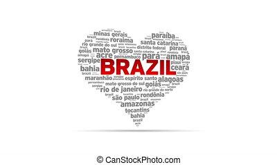 I Love Brazil - Spinning I Love Brazil Heart