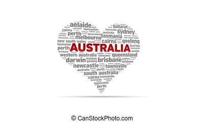 I Love Australia - Spinning I Love Australia Heart