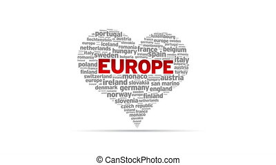 I Love Europe - Spinning I Love Europe Heart