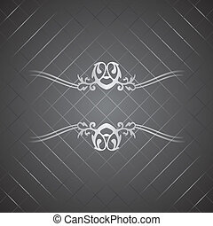 Vector silver luxury background