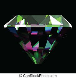 brillante, brillante, diamante, vector