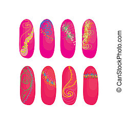 vector nails designs