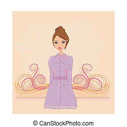 fashion girl in a coat