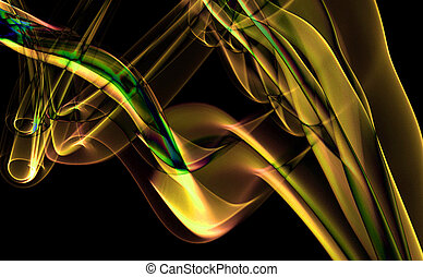 Abstract Smoke Art