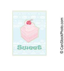 Lovely cake - Vintage Card Design