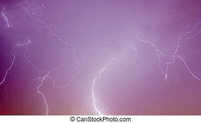 real lightning on may night