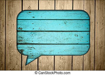 Wooden fence with chat box