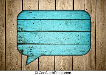 madeira, cerca, conversa, caixa