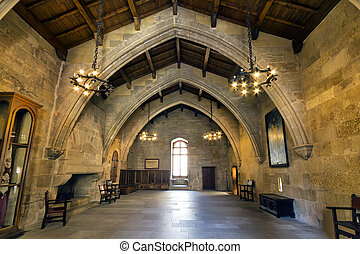 Monastery of Santa Maria de Poblet flags room
