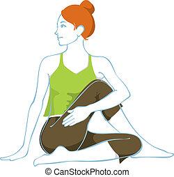 Ardha matsyendrasana, A hatha yoga asana