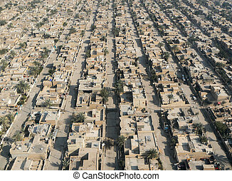 Aerial view of Baghdad - An aerial view of a west Baghdad...