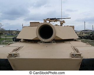 M1 Abrams bore - Looking down the bore of a M1 Abrams main...