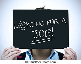 Man search job - Man looking for a job