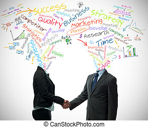 Business partner concept - Business partner handshake with...