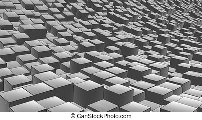 cube landscape ink - abstract background