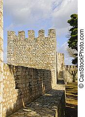 Torres Novas Castle - Castle Tower in Torres Novas, Portugal
