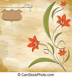 customizable floral background