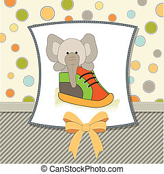 cute greeting card with an elephant