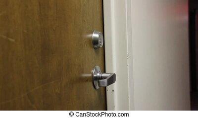 Unlock and open door