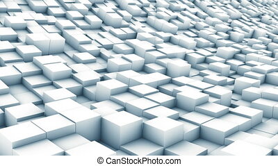 cube landscape white - abstract background