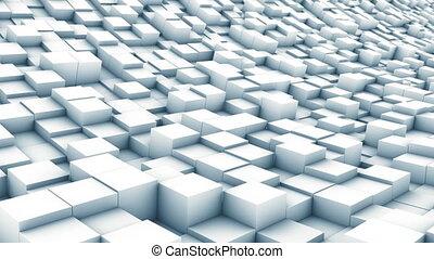 cube landscape white