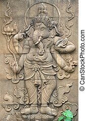 ganesh sculpture - Classi stone sculpture of indian god...