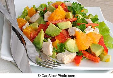 chicken salad with avocado - Chicken salad with avocado,...