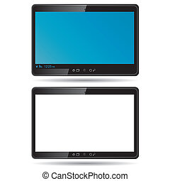 Digital tablet isolated on white. Vector illustration