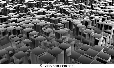 cube pan metal - abstract background
