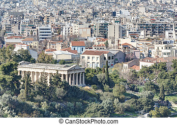 Athens and temple of Hephaistos