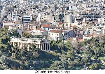 atenas, templo, Hephaistos