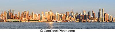 New York City Manhattan panorama - New York City Manhattan...