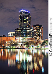 Orlando downtown architecture - Urban architecture with...