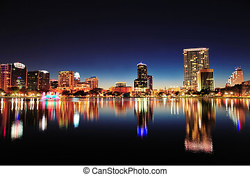Orlando at night