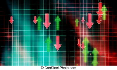 Arrows up and Down Business Looping Animated Background