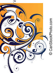 Graphic design - Decorative abstraction with creative swirls