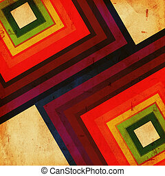 retro background - vintage background color squares over old...
