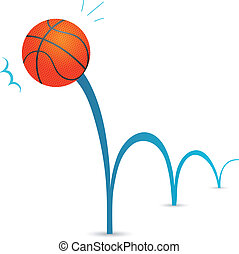 Bouncing ball - Bouncing basketball ball cartoon...