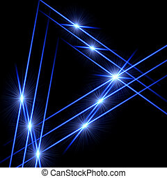 light triangles - blue triangle - lines and light rays over...