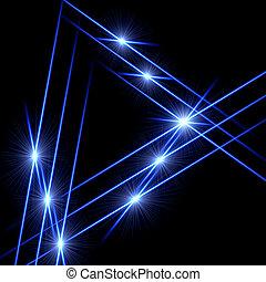luz, triângulos