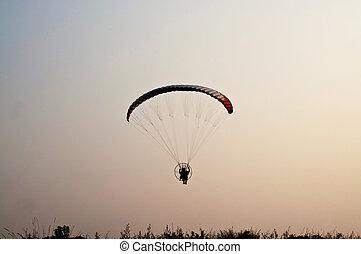 para motor glider on sky