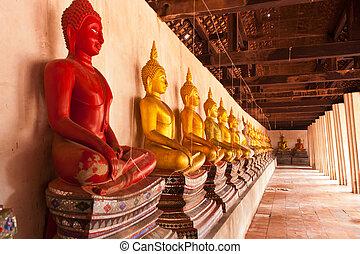 Red Statue Buddha