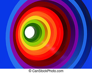 abstarct background - Color tunnel ?3d graduate circles in...