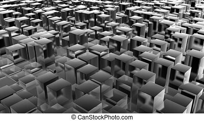 cube track metal - abstract background