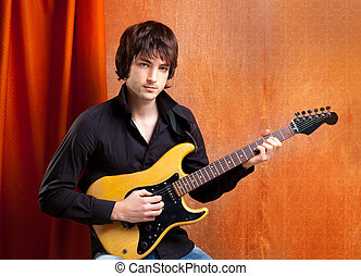british indie pop rock look young musician guitar player